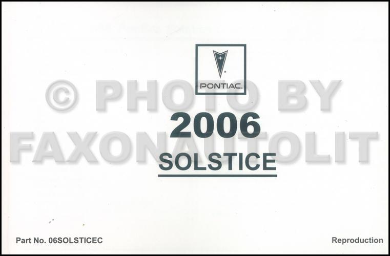 2006 Pontiac Solstice Repair Shop Manual 2 Volume Set Original
