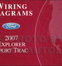 2007 ford explorer sport trac wiring diagram manual original rh faxonautoliterature com 2007 ford explorer wiring [ 1058 x 800 Pixel ]