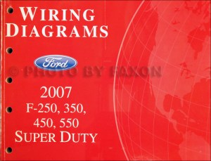 2007 Ford F250F550 Super DutyTruck Wiring Diagram Manual