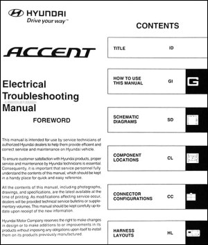 2007 Hyundai Accent Electrical Troubleshooting Manual Original