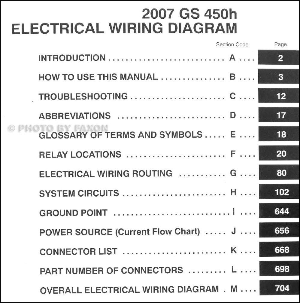 medium resolution of 2007 lexus gs 450h wiring diagram manual original rh faxonautoliterature com 2002 toyota sienna jbl radio
