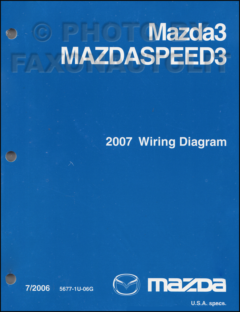 Wiring Diagram For Mazda 3