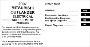 2007 Mitsubishi Outlander Wiring Diagram Manual Original