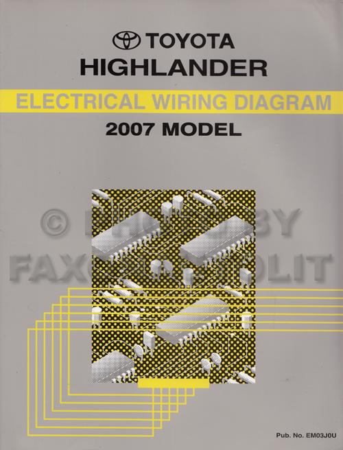 2007 Highlander Wiring Diagrams