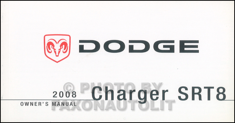 2008 Dodge Charger SRT8 Owners Manual NEW Original Owner
