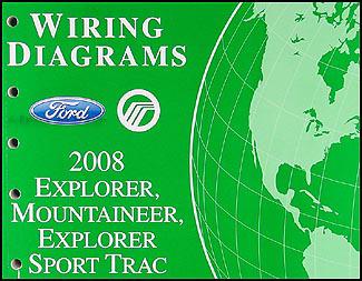 2008 Ford Explorer Mercury Mountaineer Wiring Diagram Manual Original