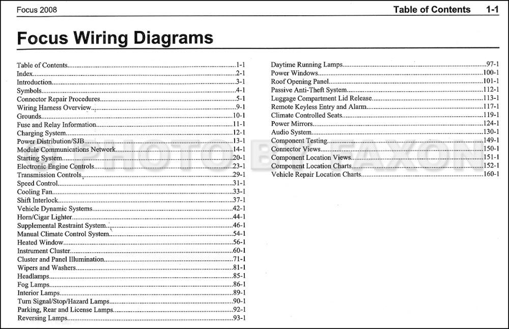 medium resolution of 2008 ford focus wiring diagram manual original