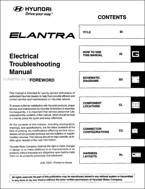 small resolution of 2008 hyundai elantra electrical troubleshooting manual