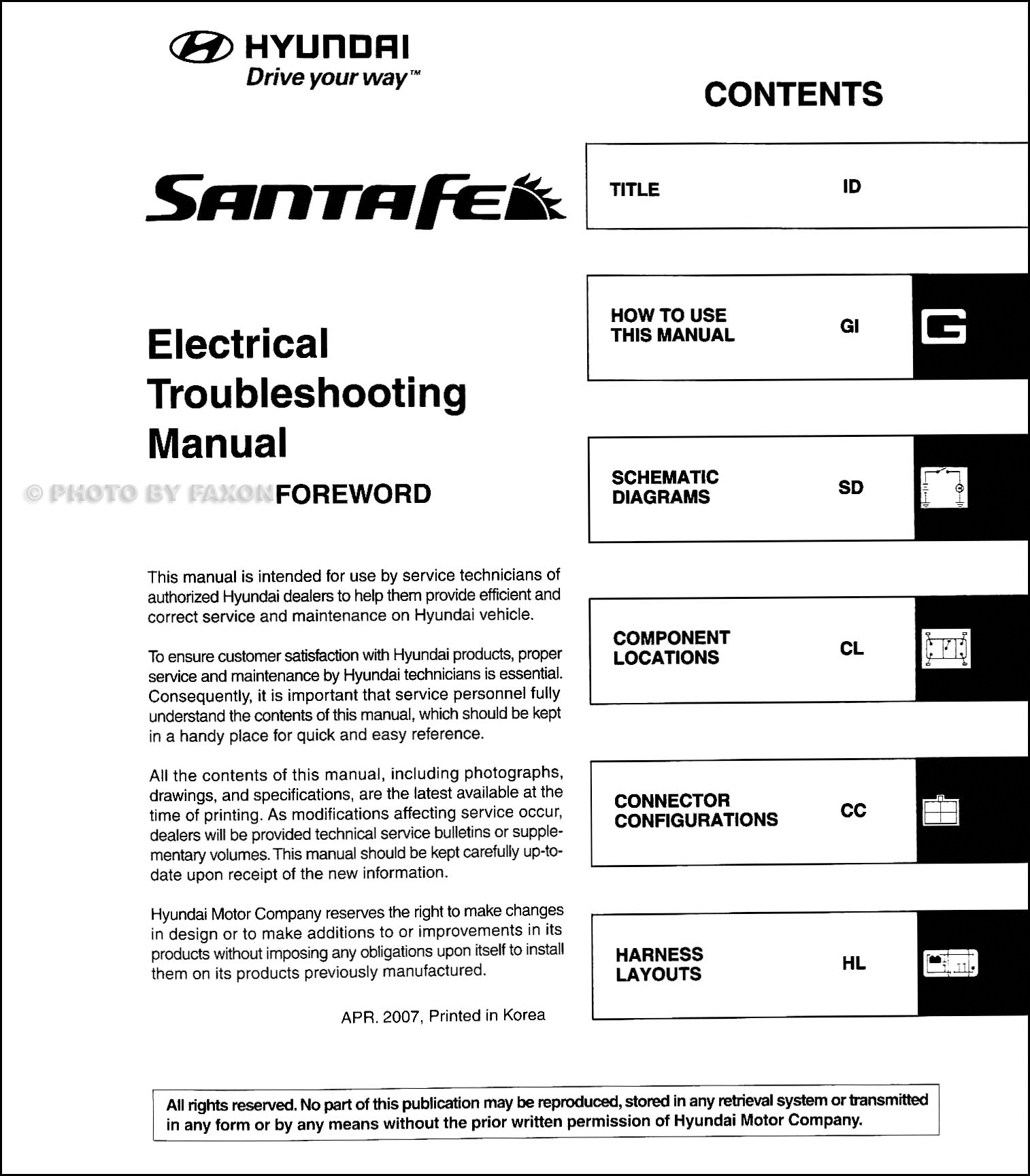2008 hyundai santa fe wiring diagram dna fingerprinting electrical troubleshooting manual