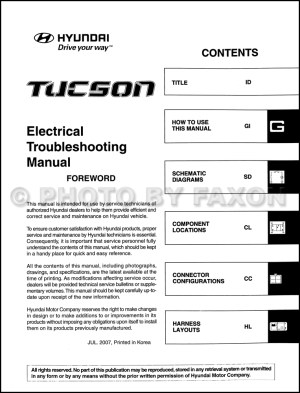 2008 Hyundai Tucson Electrical Troubleshooting Manual Original