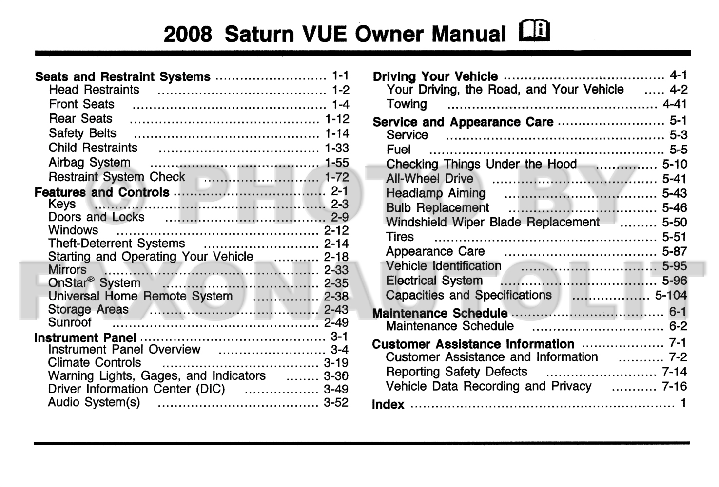 2008 saturn outlook dashboard lights centralroots com rh centralroots com 2008 saturn outlook owner's manual pdf saturn outlook service manual download