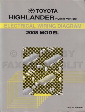 2008 Toyota Highlander Hybrid Wiring Diagram Manual