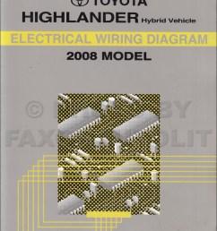 2008 toyota highlander wiring diagram manual original [ 1000 x 1316 Pixel ]