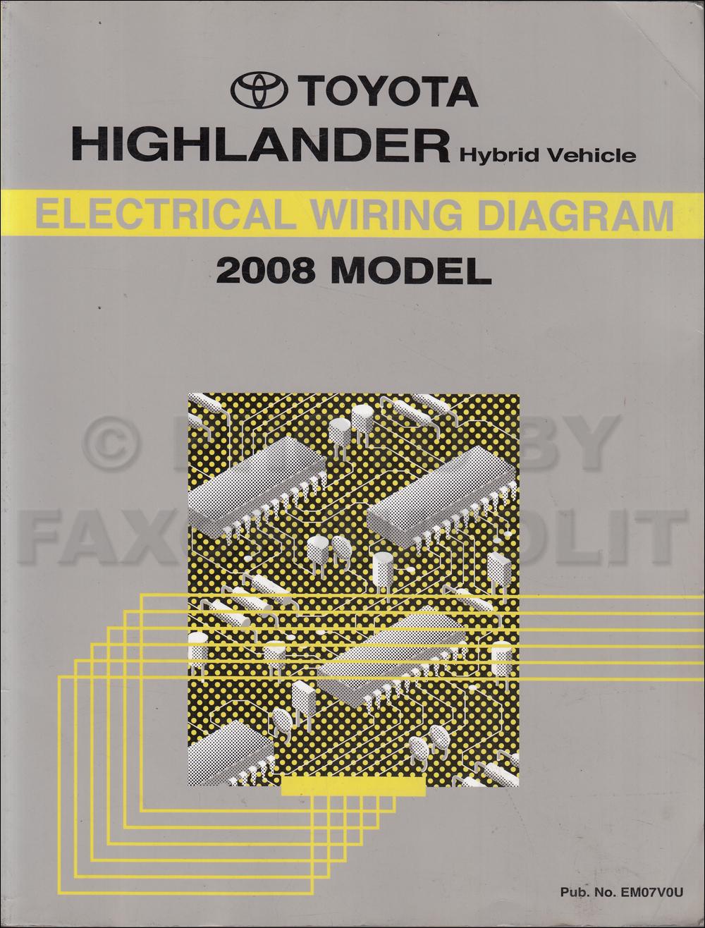 hight resolution of 2008 toyota highlander wiring diagram manual original