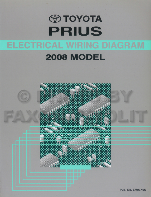 2001 Toyota Prius Wiring Diagram Manual Original Toyota Books