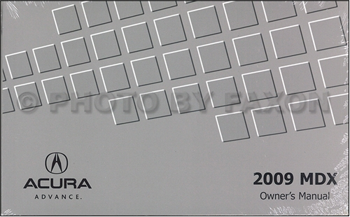 2009 Acura MDX Owners Manual Original