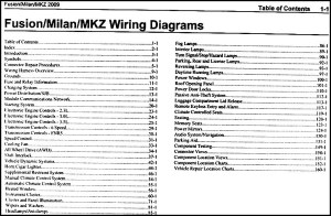 2009 Fusion Milan MKZ Wiring Diagram Manual Original