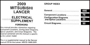 2009 Mitsubishi Lancer Wiring Diagram Manual Original