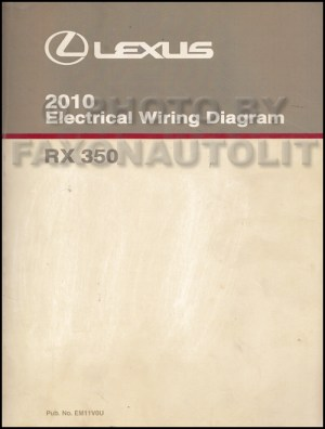 2010 Lexus RX 350 Wiring Diagram Manual Original