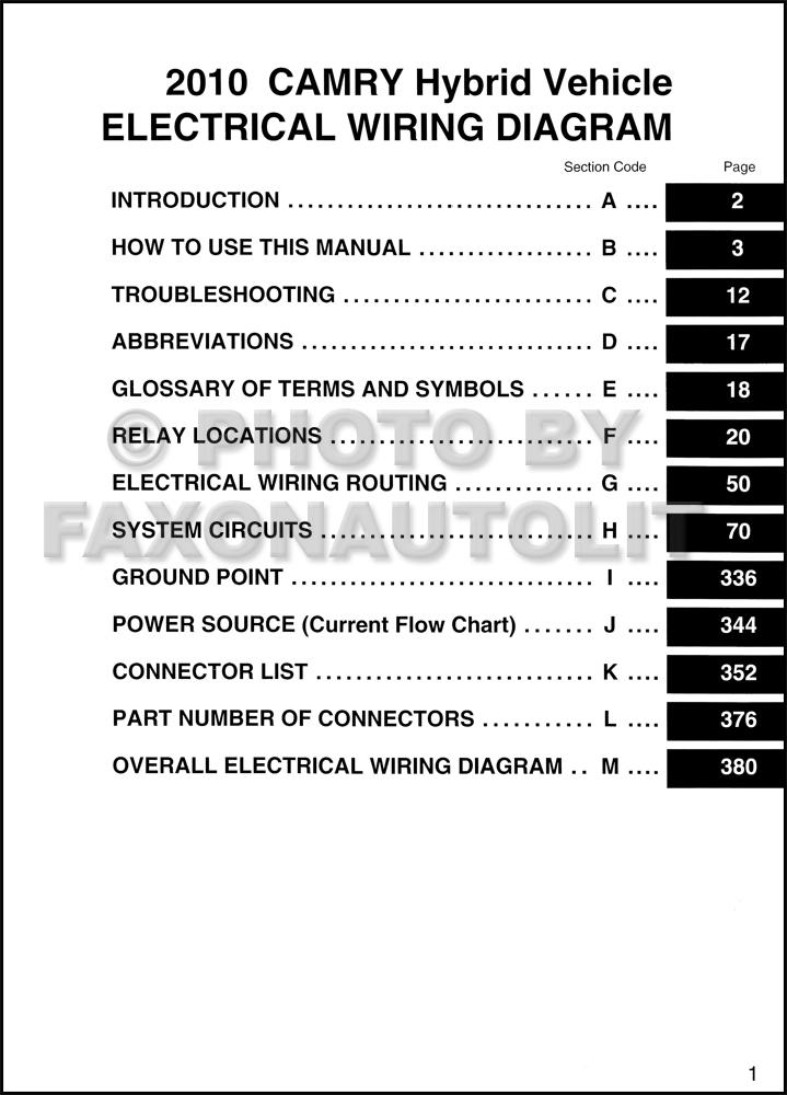 2010 Toyota Camry Audio Wiring Diagram 2
