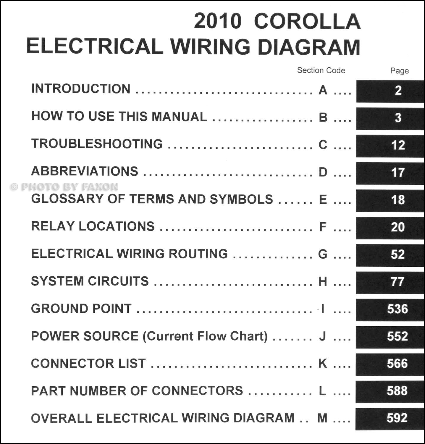 2001 toyota corolla wiring diagram 2006 impala 2010 manual original