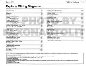 2011 Ford Explorer Wiring Diagram Manual Original