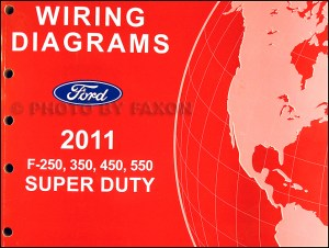 2011 Ford F250 thru 550 Super Duty Wiring Diagram Manual