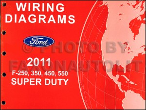 2011 Ford F250 thru 550 Super Duty Wiring Diagram Manual