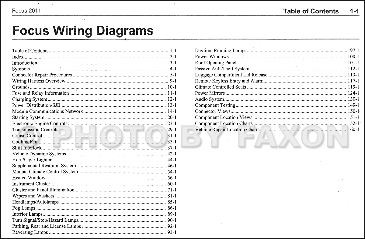2001 focus headlight wiring diagram battery for ezgo golf cart on 2011 ford get free image about