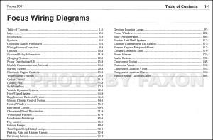 2011 Ford Focus Wiring Diagram Manual Original