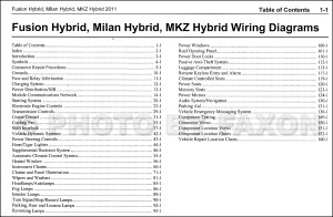 2011 HYBRID Ford Fusion Mercury Milan Lincoln MKZ Wiring Diagram Manual Original