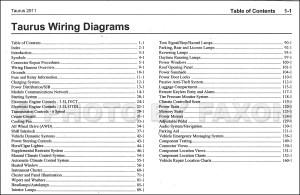 2011 Ford Taurus Wiring Diagram Manual Original