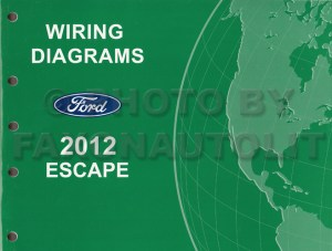 2012 Ford Escape Gas Wiring Diagram Manual Original