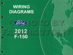 2012 Ford F150 Pickup Truck Wiring Diagram Manual Original