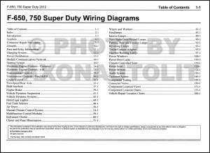 2012 Ford F650 and F750 Super Duty Truck Wiring Diagram
