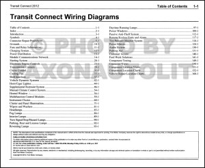 2012 Ford Transit Connect Wiring Diagram Manual Original
