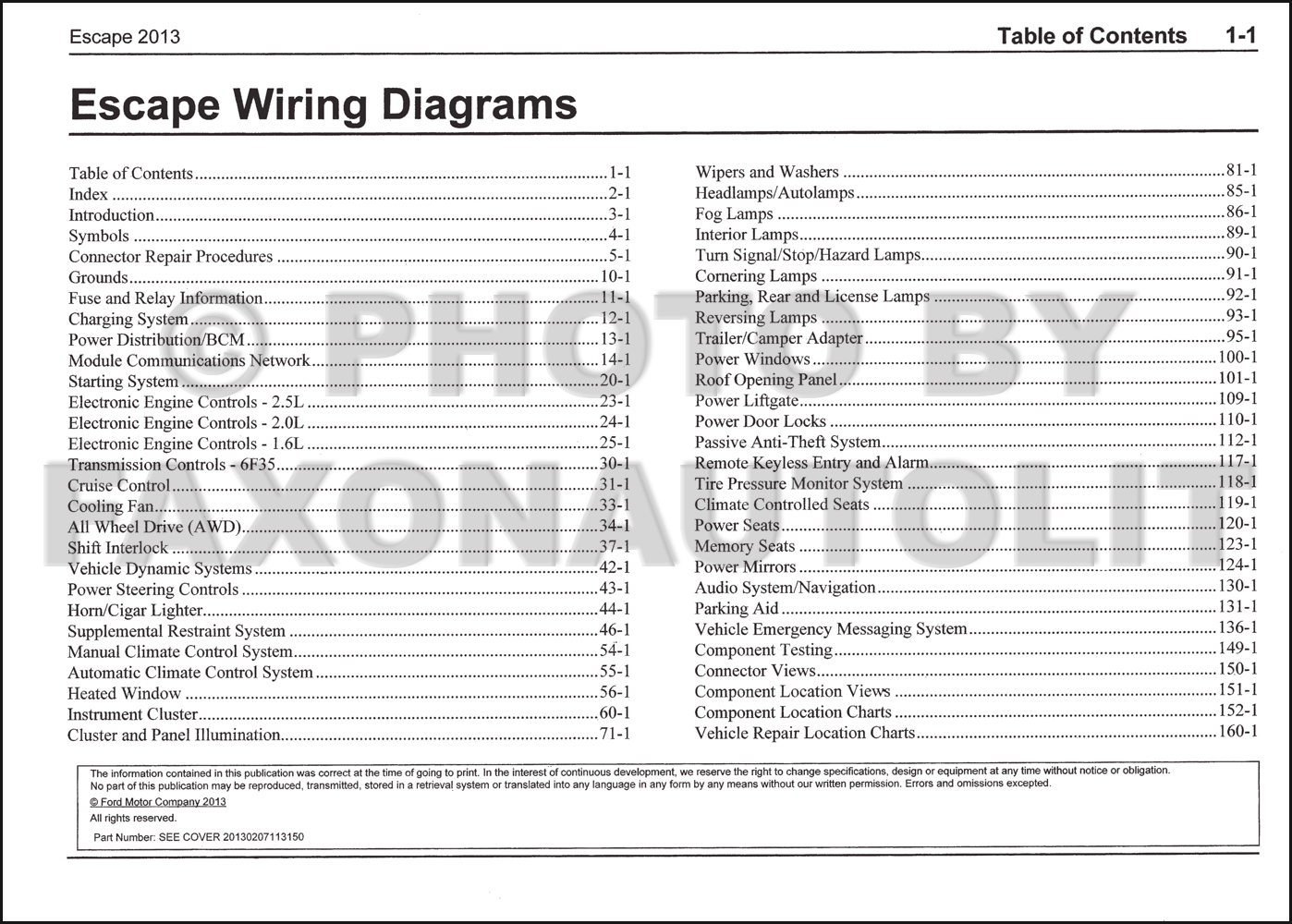 ford wiring diagram color codes for contactor switch 2013 escape manual original