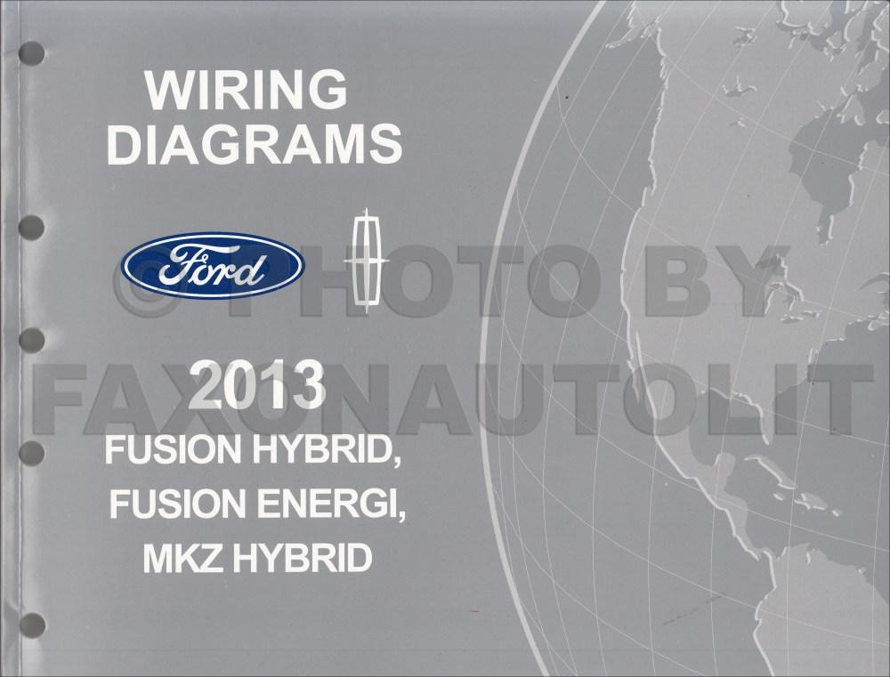 medium resolution of 2013 ford fusion energi lincoln mkz hybrid wiring diagram manual original