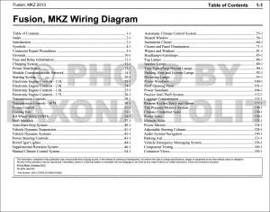 2013 Ford Fusion Lincoln MKZ Wiring Diagram Manual Original Gasoline models