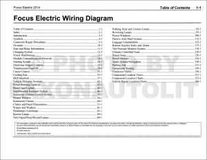 2014 Ford Focus Electric Wiring Diagram Manual Original  All Electric PlugIn