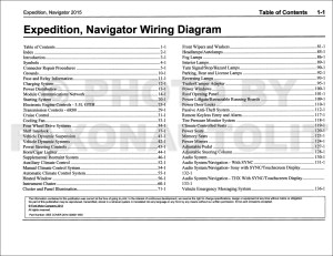 2015 Ford Expedition Lincoln Navigator Wiring Diagram