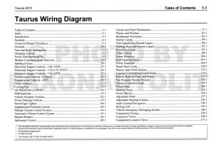 2015 Ford Taurus Wiring Diagram Manual Original