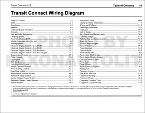 2015 Ford Transit Connect Wiring Diagram Manual Original