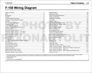 2016 Ford F150 Wiring Diagram Manual Original