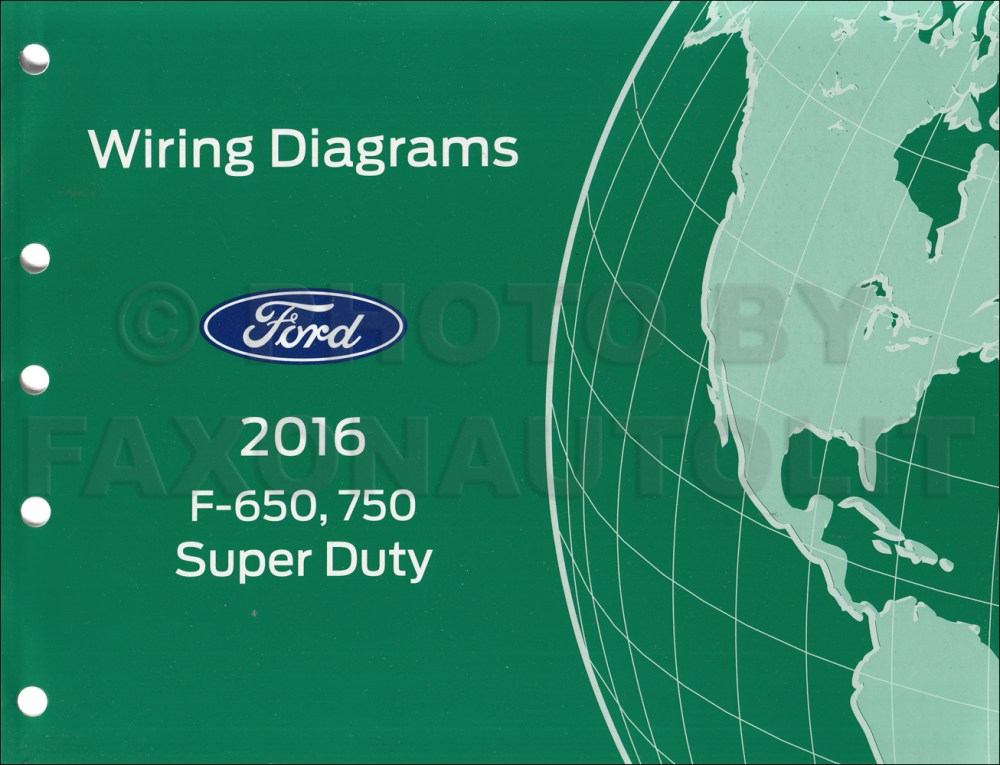 medium resolution of 2016 ford f 650 and f 750 super duty truck wiring diagram manual original