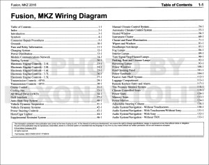 2016 Ford Fusion Lincoln MKZ Wiring Diagram Manual Original