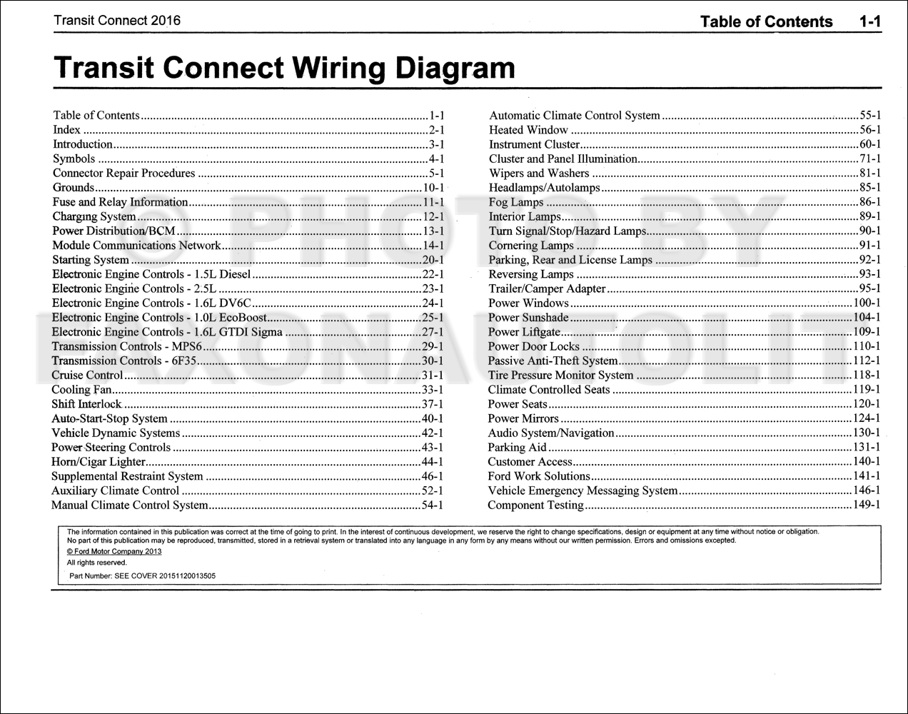 ford transit wiring diagram 2004 wrangler radio 2016 connect manual original