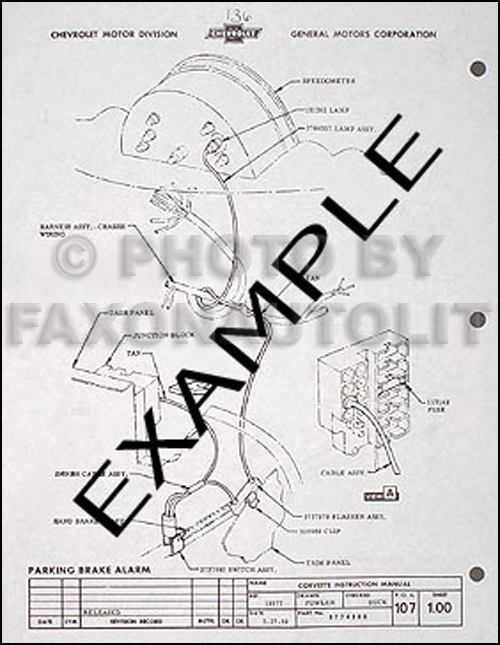1976 Corvette Factory Assembly Manual 76 Exploded Views of
