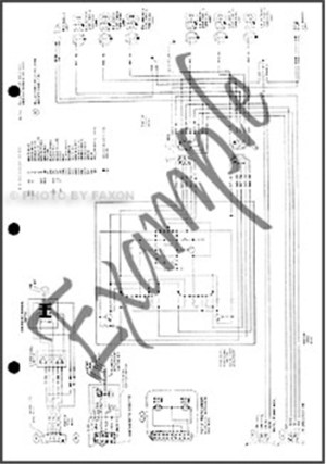 1981 Ford Pickup Foldout Wiring Diagram F100 F150 F250