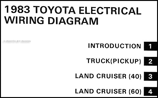 1983 Toyota pickup wiring harness